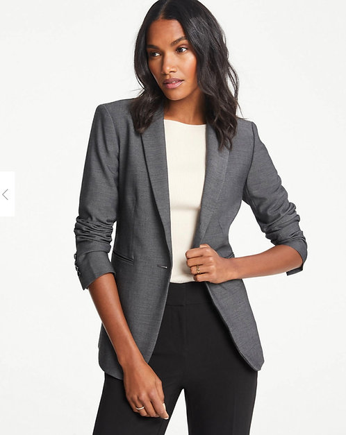 Ann Taylor Grey Business Blazer