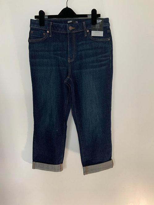 Simply Vera by Vera Wang Blue Capri Jeans Size 12
