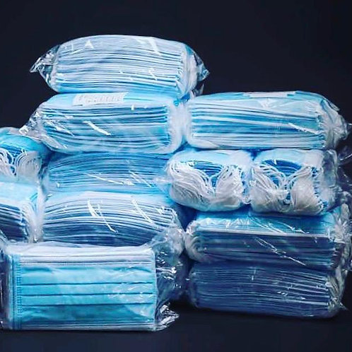 Wrapped Disposable 3 Layer Mask (50 pcs in box)