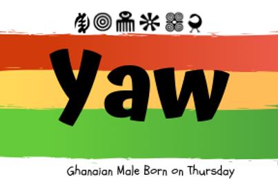 Fridge Magnet Souvenir Yaw- Male Born on Thursday