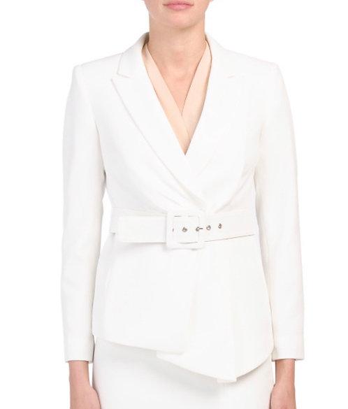 Winter White Belted Tahari Blazer