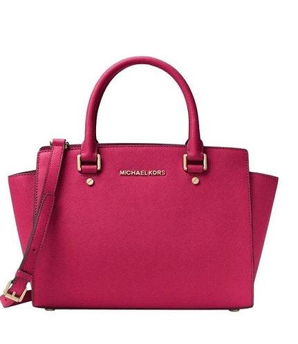 Fuschia Pink MK Satchel