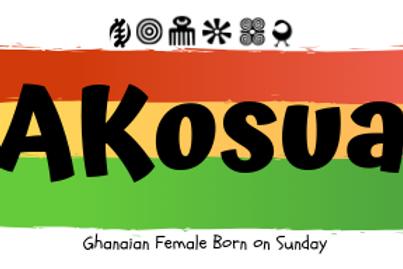 Fridge Magnet Souvenir Akosua-Female born on Sunday