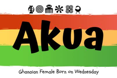 Fridge Magnet Souvenir Akua-Female born on Wednesday