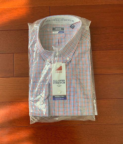 Izod MUlti Color Plaid Shirt Size 17 GHS 145