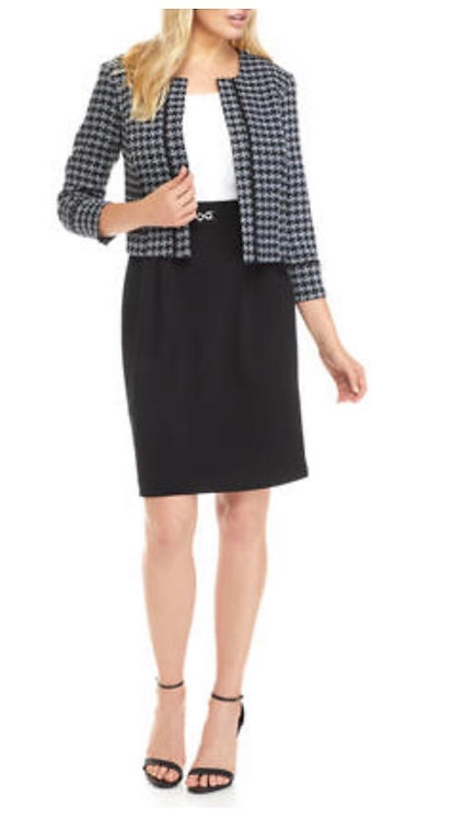 Houndstooth  Dress Suit