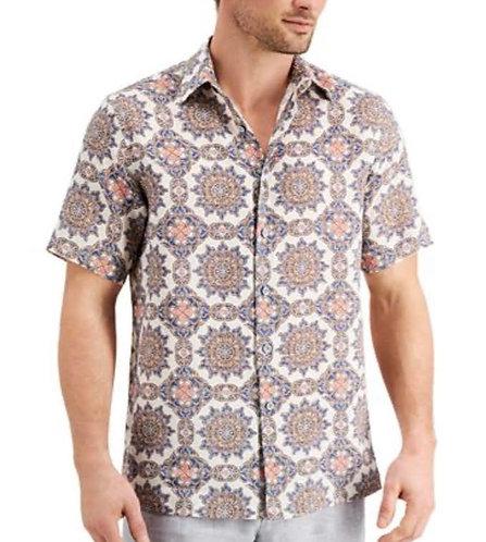 Brown Stars Mens Casual Shirt