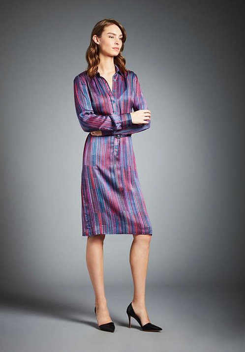 Etcetera Abigail Multicolored Silk Dress Size 12