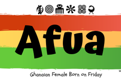 Fridge Magnet Souvenir Afua-Female born on Friday