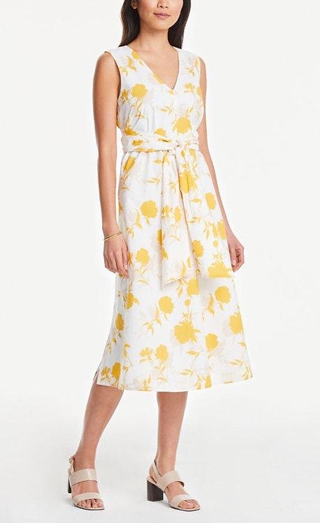 Ann Taylor Long Yellow Belt Dress