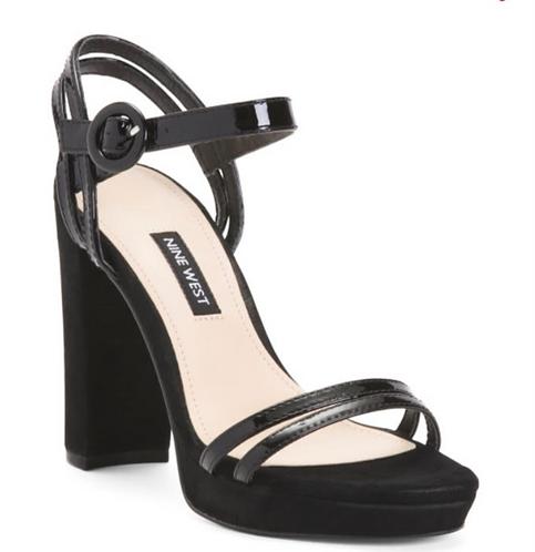 Black Block Heel Women's Shoes