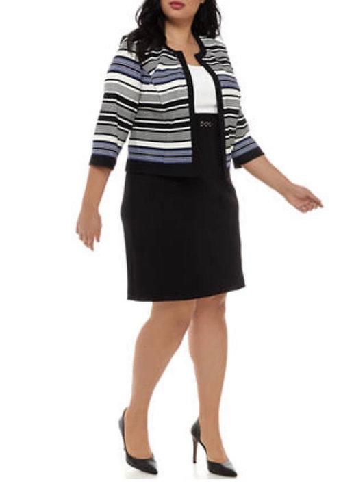 Multi Striped Dress Suit