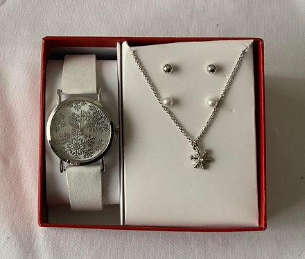 Watch, necklace, earring set