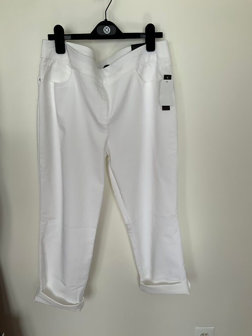 White Denim Crop Pants Size 14