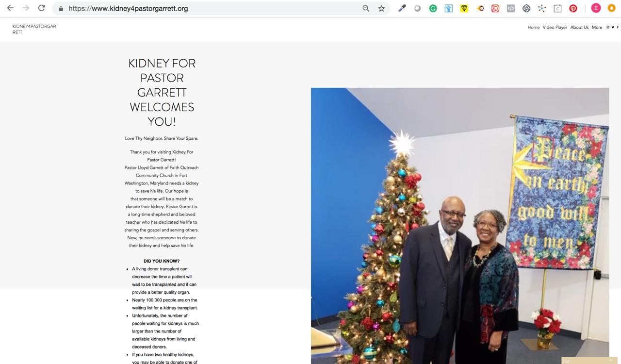 Kidney4Garret Website Home