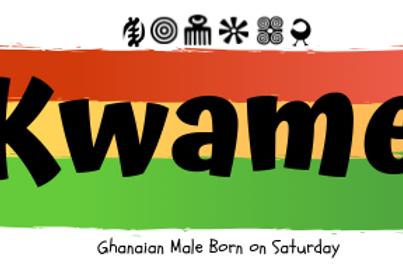 Fridge Magnet Souvenir Kwame-Male Born on Saturday