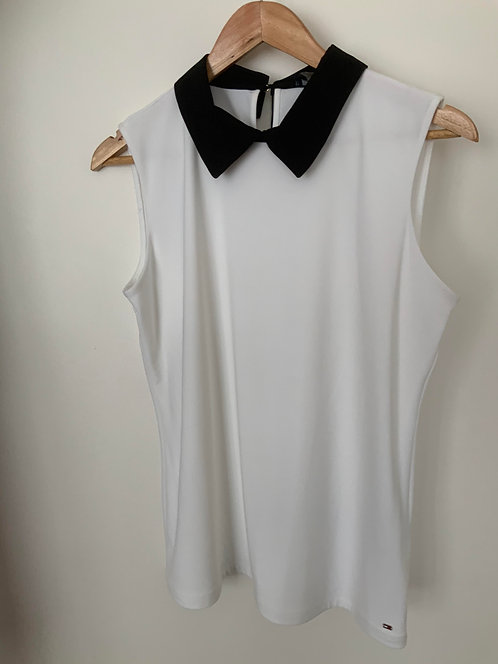 Tommy Hilfiger White Sleeveless Top