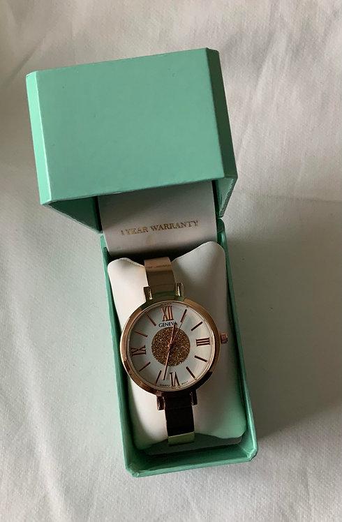 Thin strap wrist watch