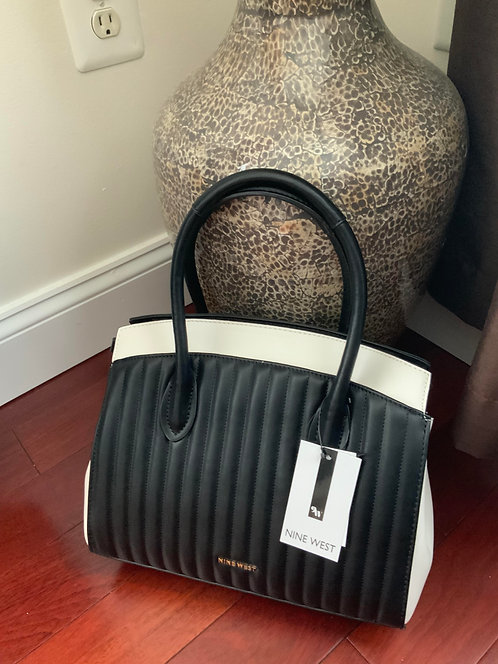 Nine West  B/W Quilted Bag
