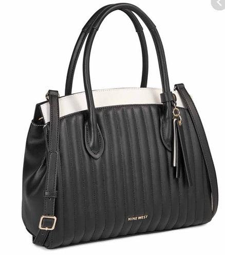 Nine West B&W Quilted Handbag