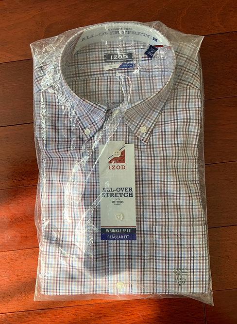 Izod MUlti Color Plaid Shirt Size 15