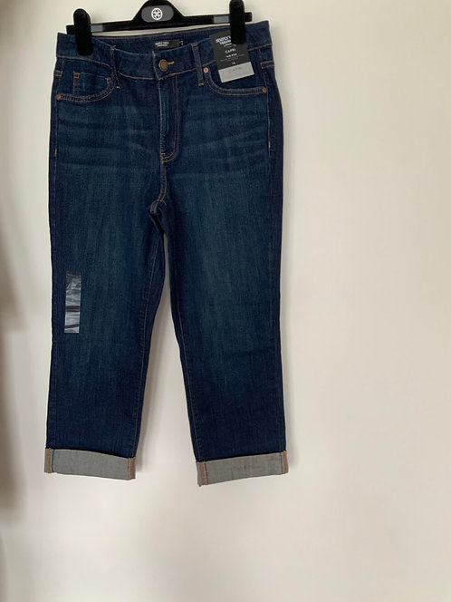 Simply Vera by Vera Wang Blue Capri Jeans Size 10