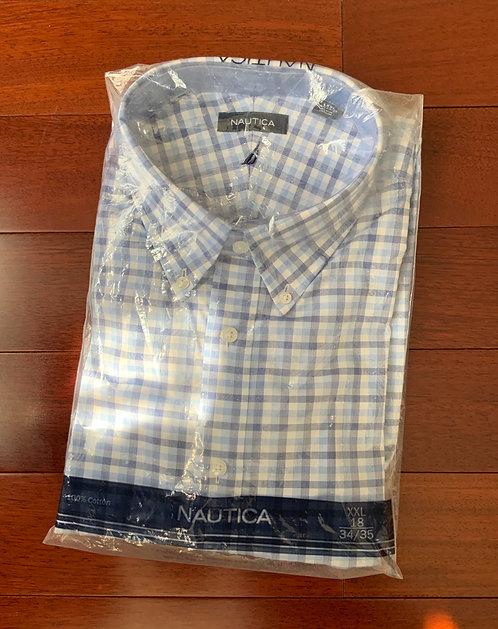 Nautica Blue Big Plaid Shirt  Size 18 GHS 145