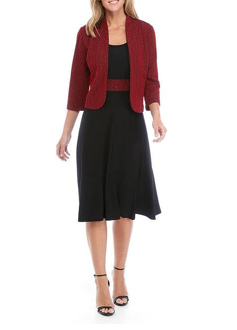 Red & Black Dress Suit