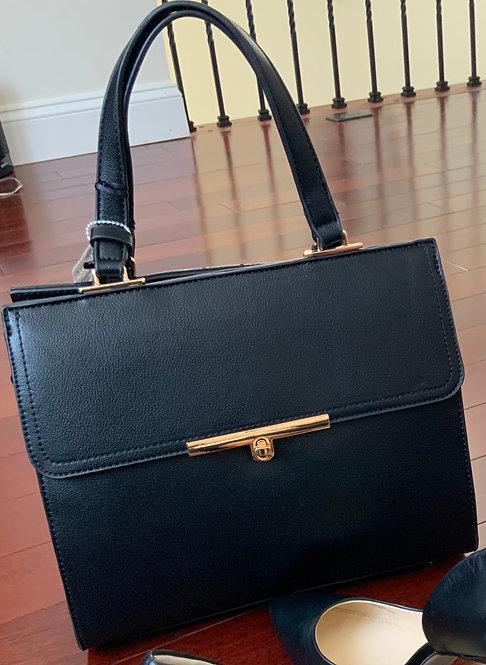 Black and Gold Women's Handbag