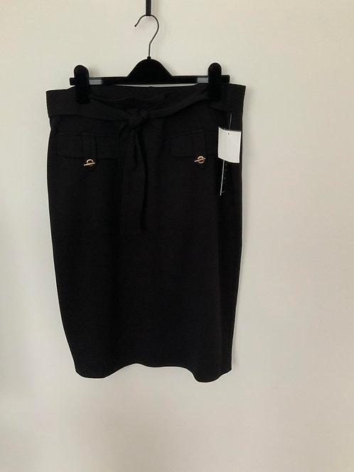 Belted Black Skirt