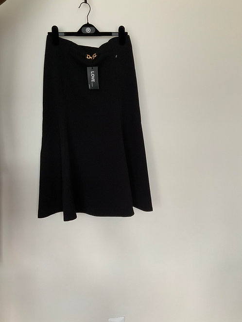 Love University Black Skirt size Large