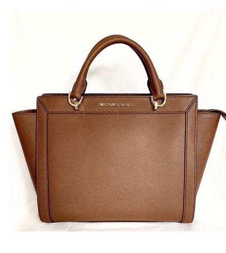 Mk Brown Saffiano bag