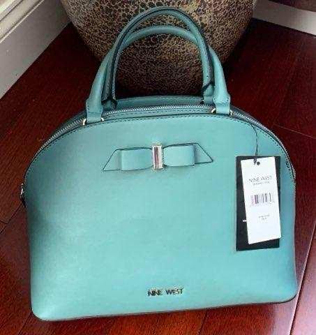 Nine West Women's Green Tow Tie Handbag