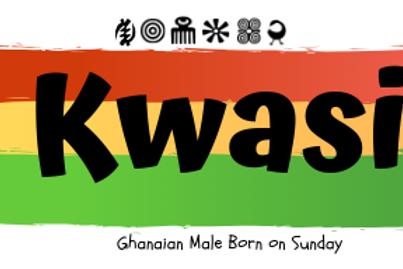 Fridge Magnet Souvenir Kwasi - Male Born on Sunday