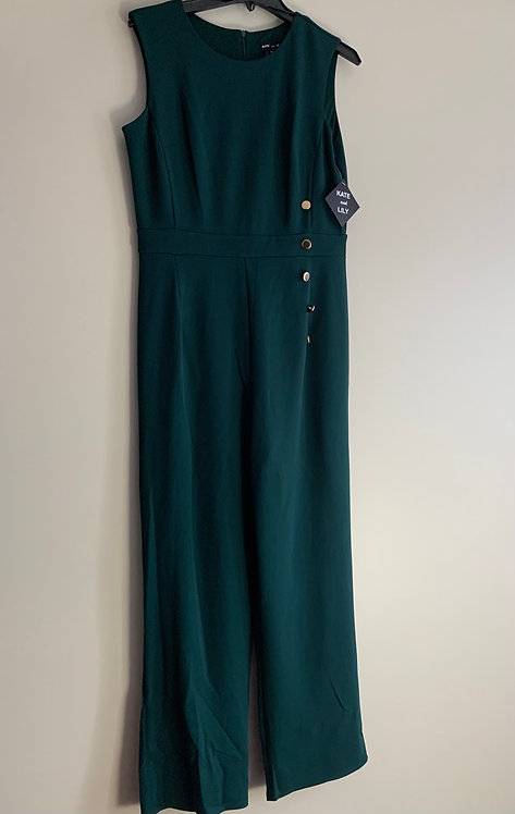 Kate and Lilly Side Button Green Jumpsuit