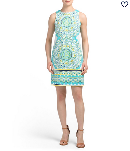 London Times Green Circles Summer Dress