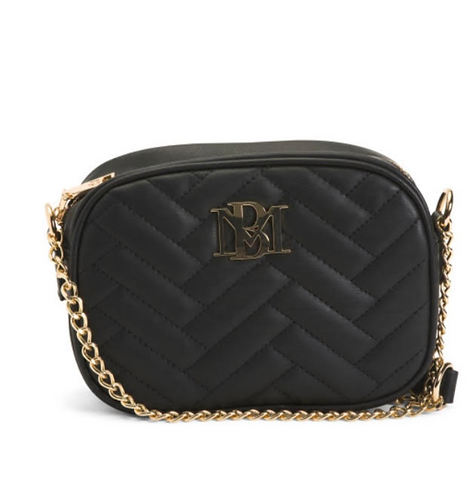 Badgley Mischka  Black Quilted Camera Bag