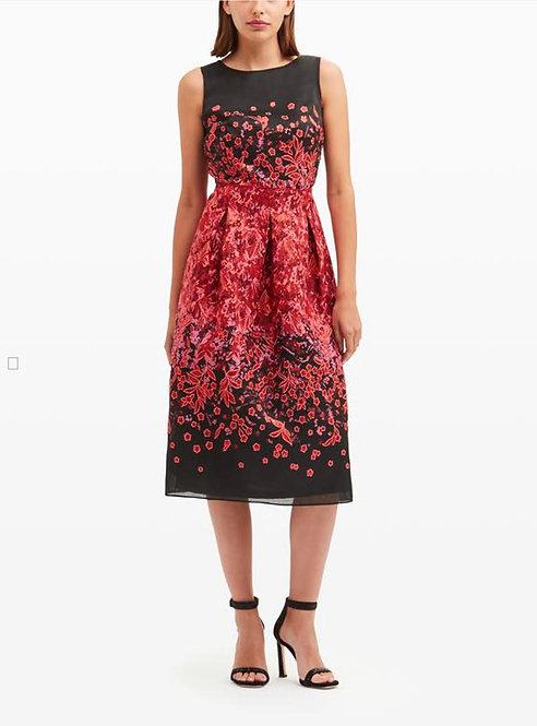 Carlisle Anastasia floral red and black sleeveless dress size 12