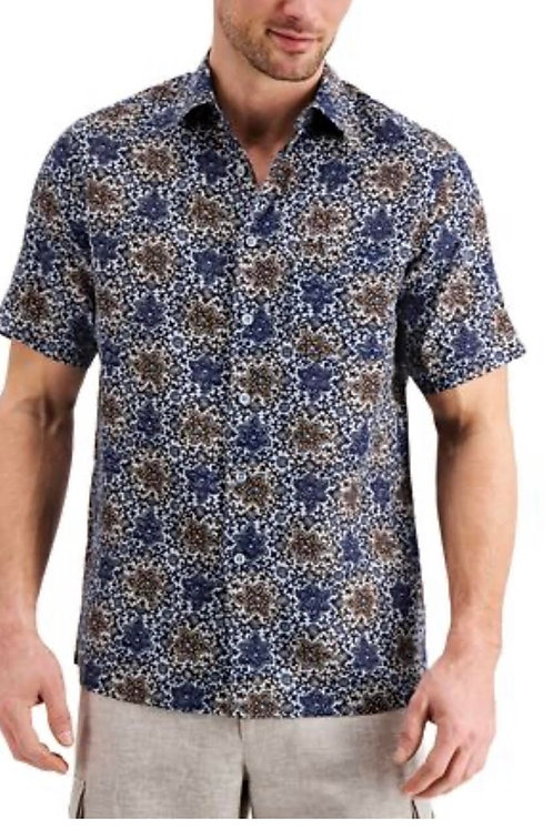 Print Blue and Brown Shirt