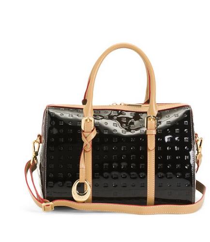 Italian Black Speedy Patent Bag