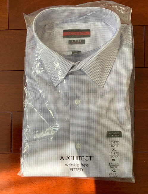 Architect Lilac Plaid Shirt Size 17