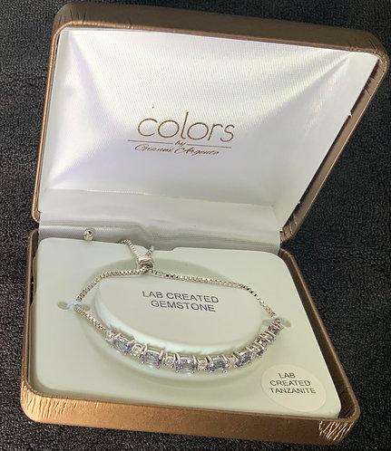 Silver Colors Gemstone Bracelet