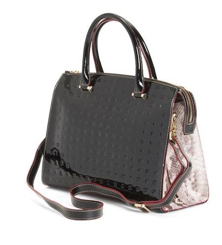 Italian Black Patent Bag
