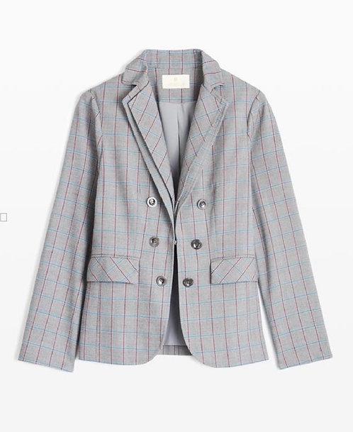 Etcetera Intellectual  Plaid Blazer Size 8