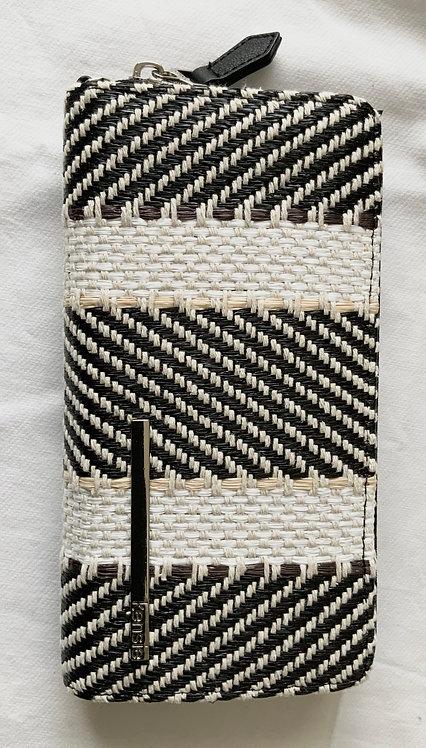 Woven women's Black Floral wallet
