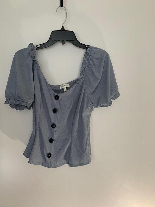 Grey Button Down Blouse