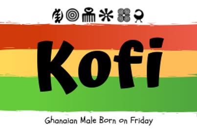 Fridge Magnet Souvenir Kofi-Male born on Friday
