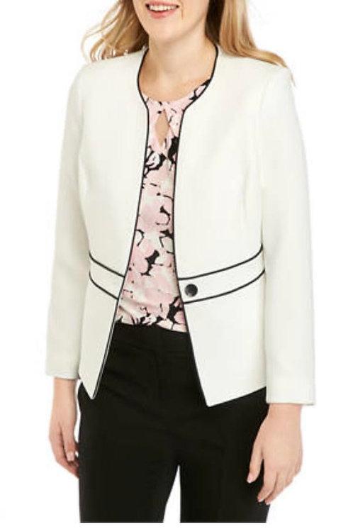 Trendy white/Black blazer Set