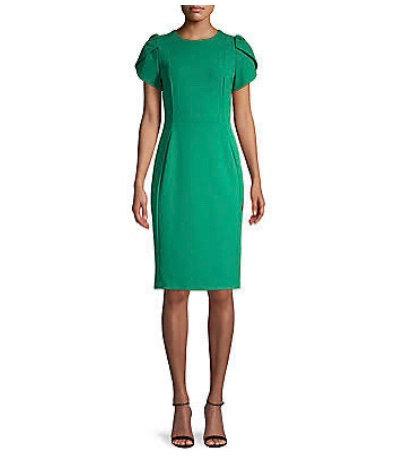 Lady Boss Green Dress