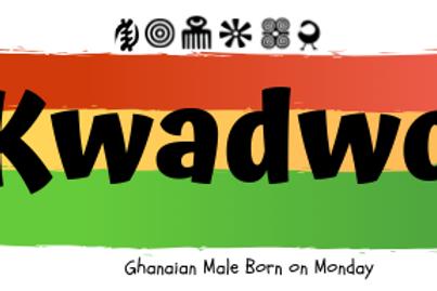 Fridge Magnet Souvenir Kwadwo - Male Born on Monday